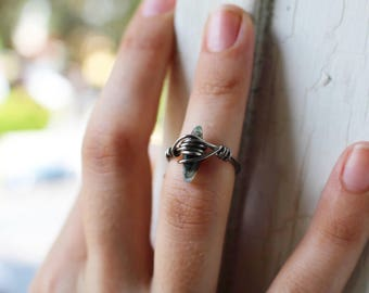 Semiprecious Gunmetal Ring