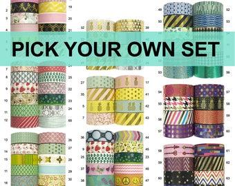 1-20 Rolls Washi Tape Set - Pick Your Own Set - Washi Masking Tapes