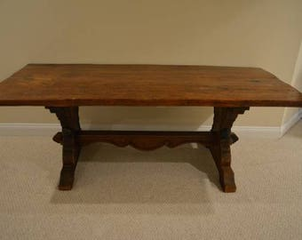 SOLD Antique Refectory Farm Trestle Table   Local Springfield/Alexandria VA  Pick Up (Shipping