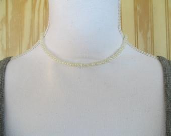 CHOKER NECKLACE/  BEADED Choker/  Dainty Choker/  Seed Bead Choker/  Dainty Necklace/  Beaded Necklace/  Gift For Her/  Cream Choker