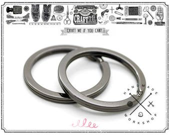 "10pcs 1.18"" (30mm) Gunmetal Round Split Key Ring Findings High quality"