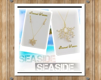 Golden Pearl Coral Necklace