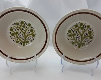 Noritake Primastone Green Tree Cereal Bowl - Vintage - Set of 2 - Free Shipping