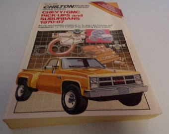 Automotive repair manual for Chevy and GMC pickups, 1970-1987