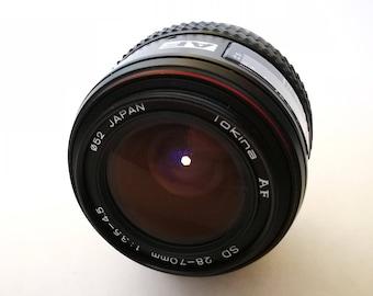 Vintage Tokina AF Zoom 28-70 mm f3,5-4,5 Lens for Nikon SLR Camera