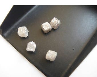 ON SALE 50% White Diamond, Rough Diamond, Raw Diamond, Uncut Diamond, Diamond Cubes, 1 Piece, 4.5mm Approx