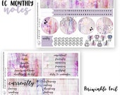 April 2018 Foiled Notes Page Sticker Kit || Will NOT Ship Before April Starts