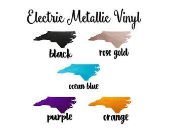 Electric Metallic Vinyl, Shimmer Finish Vinyl, 12x12 Adhesive Outdoor Vinyl, Rose Gold Metallic Vinyl Metalized Vinyl