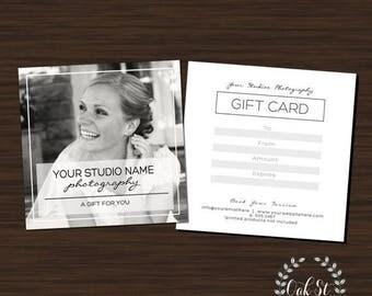 SUMMER SALE PHOTOGRAPHER Gift Card Template, Simplistic Modern Wedding Photography Gift Card, Photography Gift Card Template