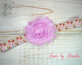 Vintage Floral Shabby baby/toddler headband!