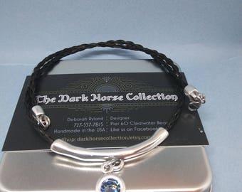 Swarovski Blue Sapphire Horsehair Necklace