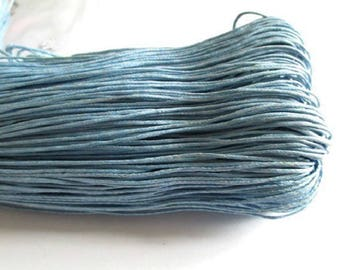 10 meters of light blue waxed cotton thread 1 mm