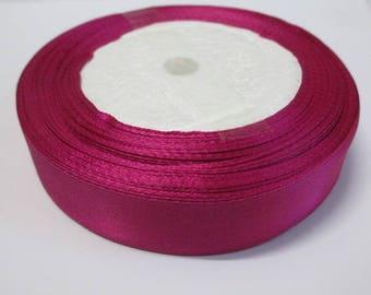 1 reel 22 m 20mm fuchsia colored satin ribbon