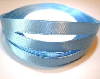 23 m 10mm reel color blue satin ribbon