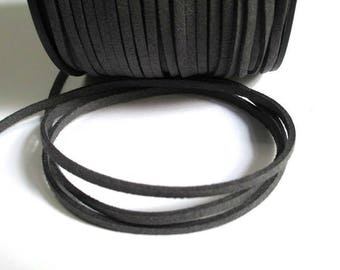 5 m gray suede 3 mm suede cord