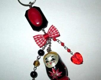 """ღ bag charm """"Russian Doll or matrachka"""" ღ / unique Piece!"""