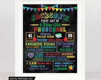 First Day of School Chalkboard - Back to School Printable - 1st Day of School Chalkboard Sign - Back to School Chalk board Sign - Any Grade