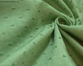 """Reserved for Gwen: Last of Green on Green Swiss Dot - 3 pieces - & 1 yard white on yellow belting ribbon - 44"""" WIDE - EP Cotton #205"""