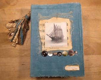 Sea themed junk journal