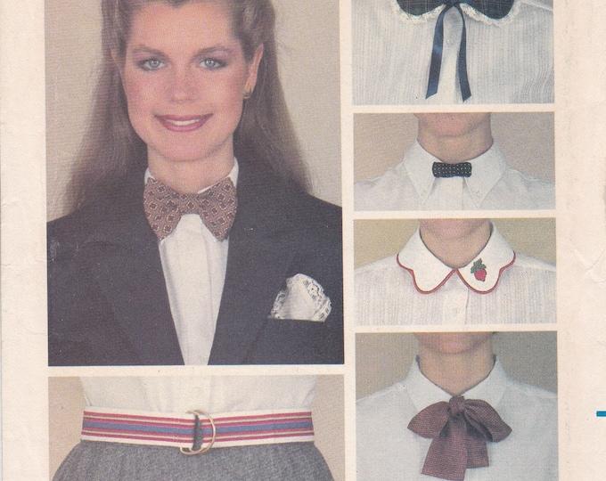 FREE US SHIP Butterick 3378 Vintage Retro 1970s 70s Purse Wood Handle Embroidery Collar transfer Belt Peplum Apron Bow Tie Uncut mint tissue