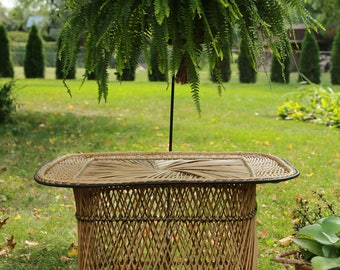 LOCAL P/U Chicago, Il area or Your Shipper  Wicker/ Rattan / Coffee Table / End Table / Plant Stand / Bohemian