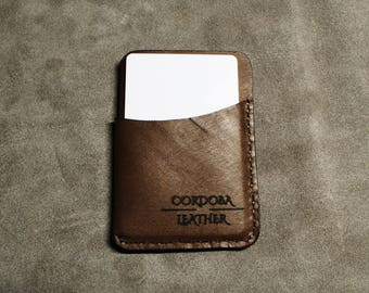 Three Pocket Minimalist Wallet - Brown