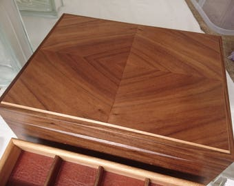 Items similar to JBBW oak and mahogany jewellery box on Etsy
