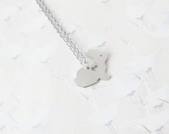 Necklace silver Bunny rabbit necklace, jewelry, rabbit, rabbit pendant, gift for her, gift for Easter
