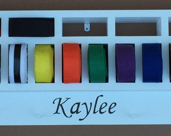 Martial Arts Belt Display, Personalized Belt Display
