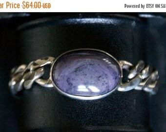 ON SALE Bold Star Ruby Silver Bracelet