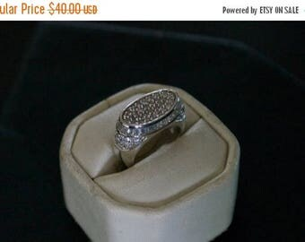 ON SALE Fascinating CZ Silver Ring