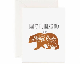 "Bear ""Happy Mother's Day To My Mama Bear"" Mother's Day Greeting Card"