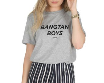 Bangtan Boys Seoul T-shirt Top Shirt Tee Fashion BTS KPOP Band Fangirl Kawaii