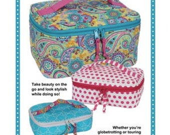 All Abord Train Case Trio sewing pattern By Annie (includes 3 sizes)