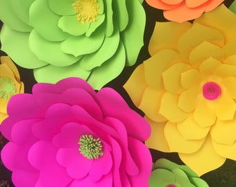 5x8 foot paper flower backdrop, your colors, handmade giant paper flower wall, wedding flower wall, white paper flower wall,