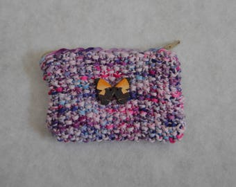 coin purse with butterfly