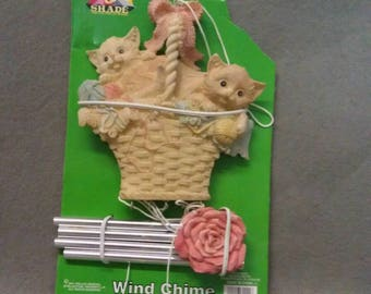 Sun and Shade Beige Cats Wind Chimes