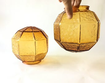 Vintage globe lamp globe pendant light amber glass pendant lighting vintage Lighting ceiling light Art deco vintage lighting glass lampshade