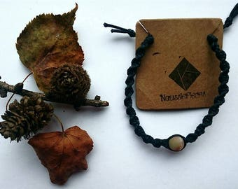 Macrame bracelet with Amazonite bead (hazelnut)