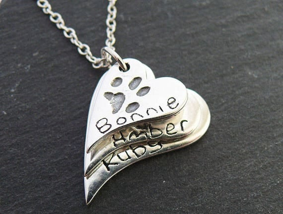 Fingerprint Jewellery - Actual Paw Prints Captured in Solid Silver - Keepsakes to last a lifetime