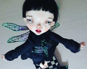 Art doll, Ooak art doll, Art clay doll, Handmade doll, Paper clay doll