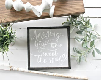Amazing Graze Wood Sign,farmhouse sign,home decor,farmhouse decor,framed sign,wood sign,modern farmhouse,Home and Living, Wall Decor,Shiplap