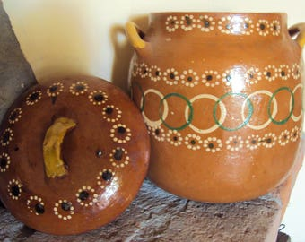 Traditional Authentic Mexican handmade clay pot