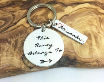 """Personalised """"This Mummy, Auntie, Nanny, Best Friend, Granny, Godmother Belongs To.."""" Key Ring 