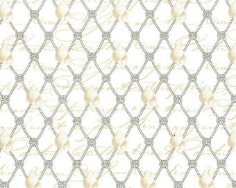 Nautical Netting from Michael Miller -  cotton quilting fabric by the yard