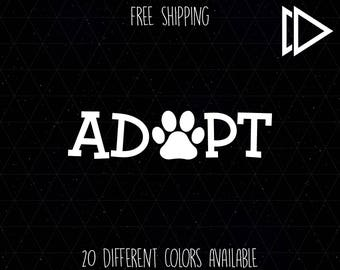 Adopt Rescue Dog Decal