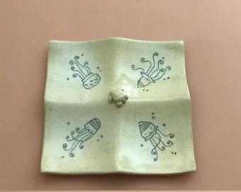 Under-the-Sea-themed Ceramic Tray