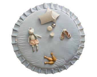 Play mat / Kids play mat / Baby round mat / Padded baby mat / Padded play mat / Blue play mat / Kids rug