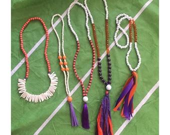 Gameday tassel necklaces! Clemson  tigers