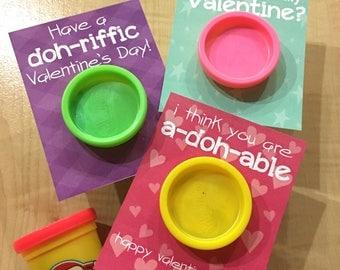 Play-doh Valentine - Kid Valentine- INSTANT DIGITAL DOWNLOAD